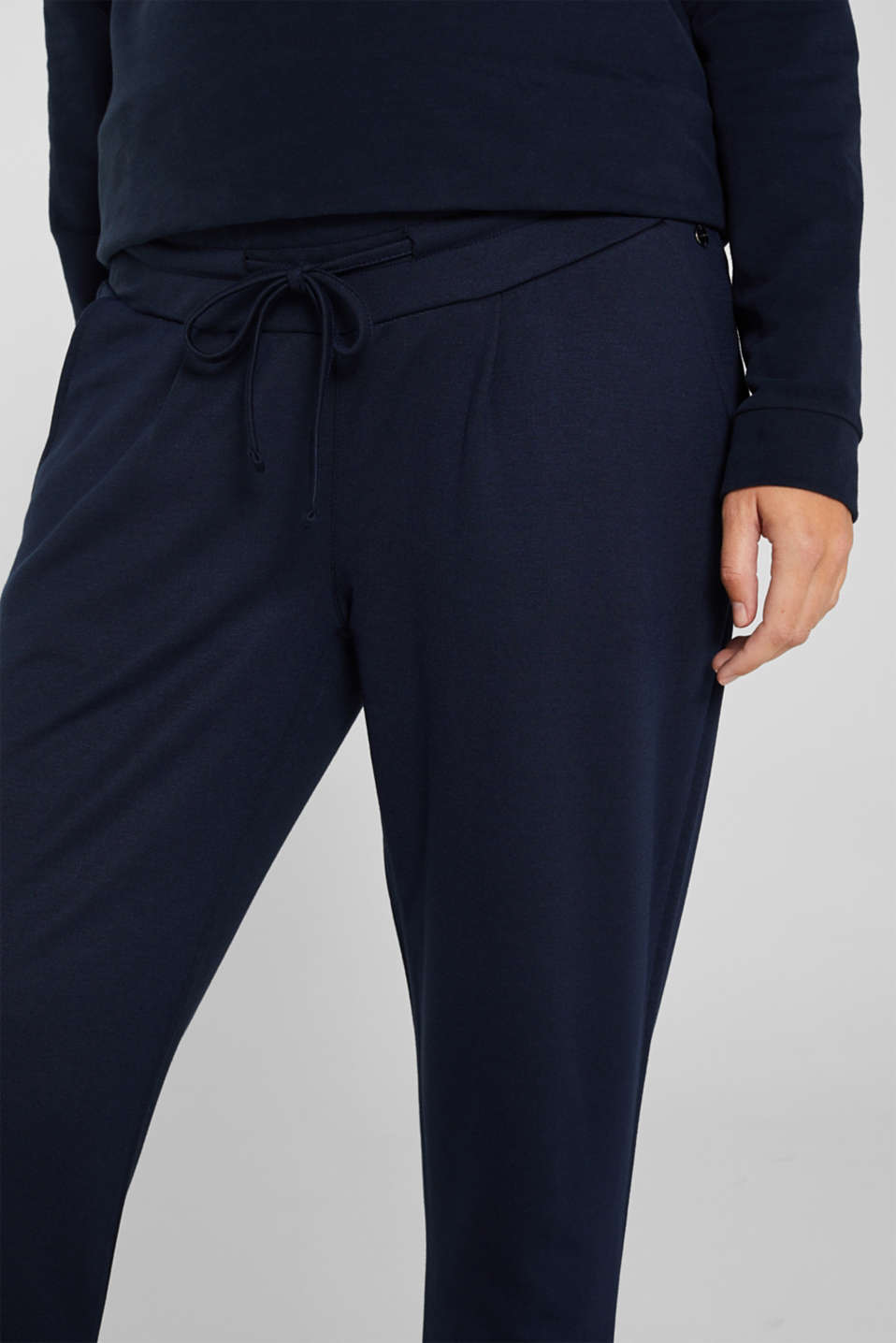 Stretch jersey trousers with under-bump waistband, LCNIGHT BLUE, detail image number 2