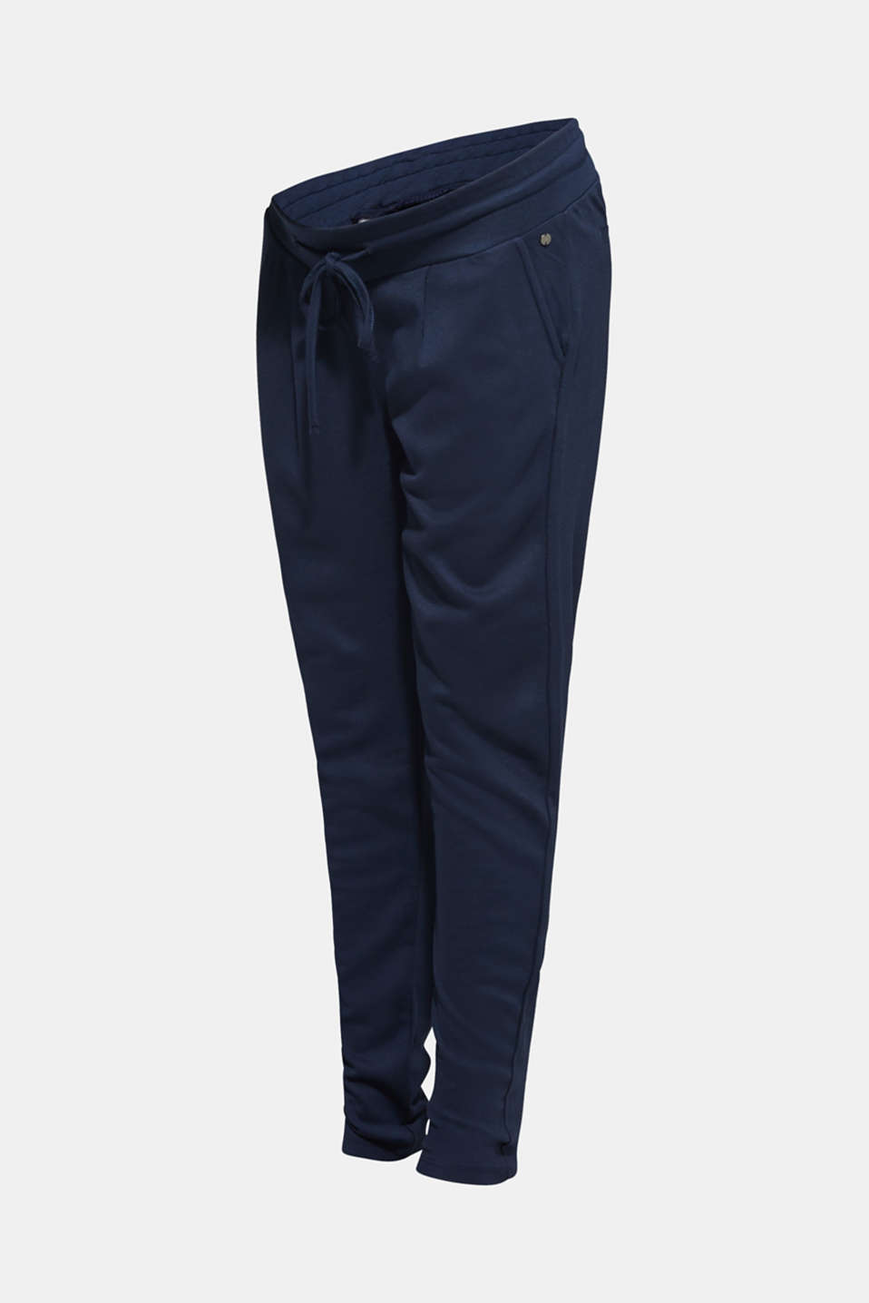 Stretch jersey trousers with under-bump waistband, LCNIGHT BLUE, detail image number 5