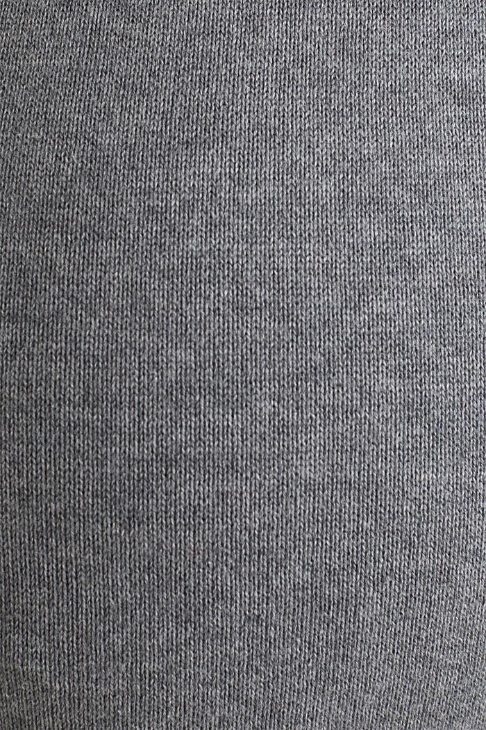Knit dress with a jacquard pattern, MEDIUM GREY MELANGE, detail image number 4