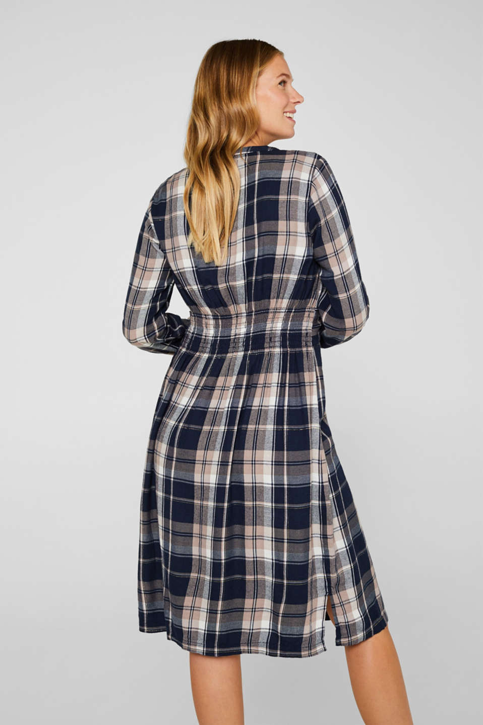 Glittering flannel dress with a nursing function, LCNIGHT BLUE, detail image number 3