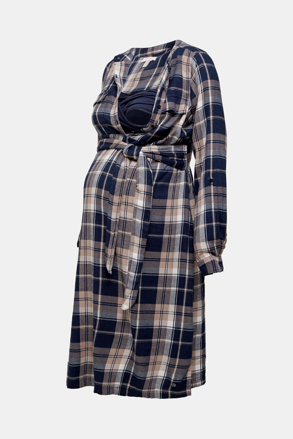 Glittering flannel dress with a nursing function, LCNIGHT BLUE, detail image number 5