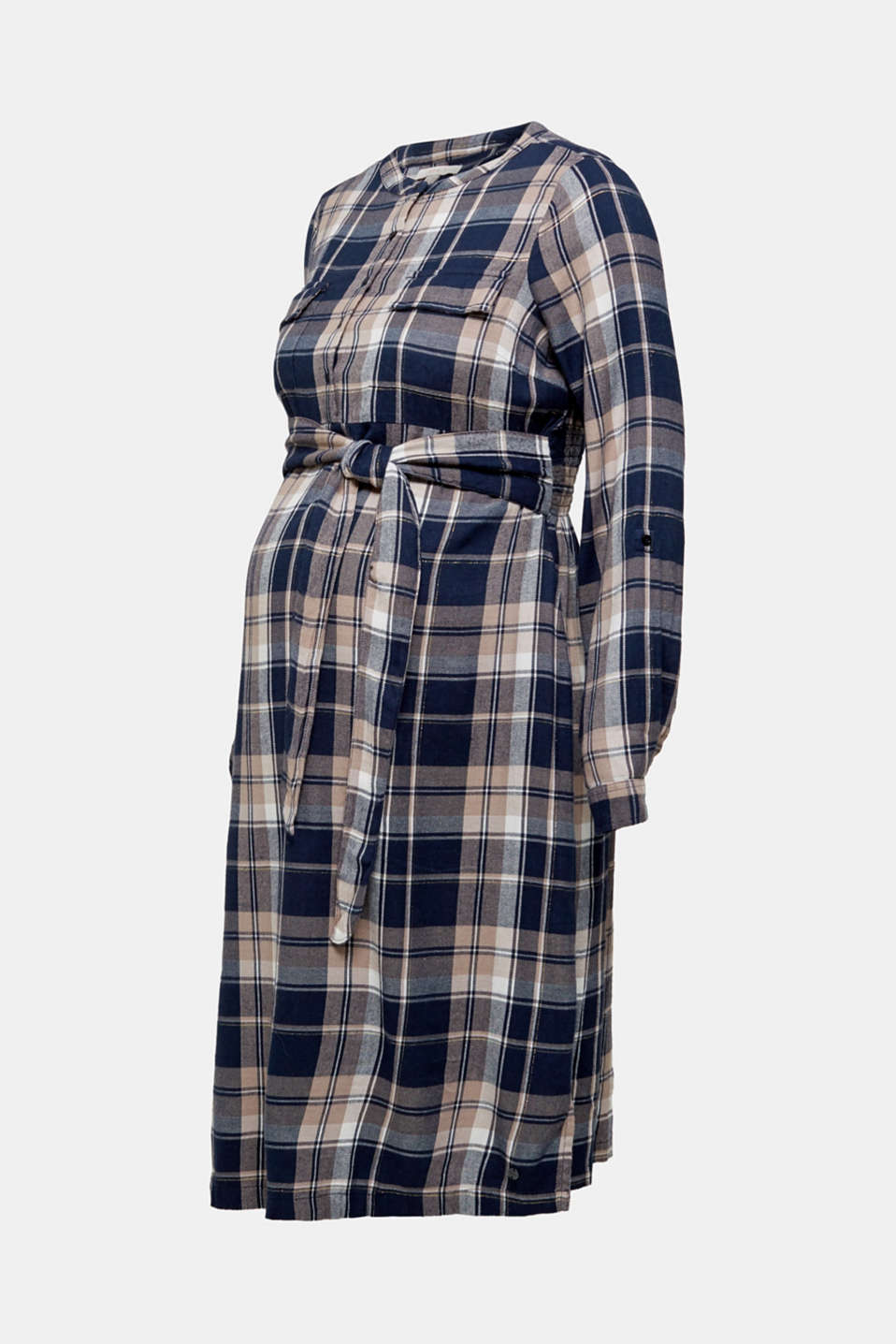 Glittering flannel dress with a nursing function, LCNIGHT BLUE, detail image number 6