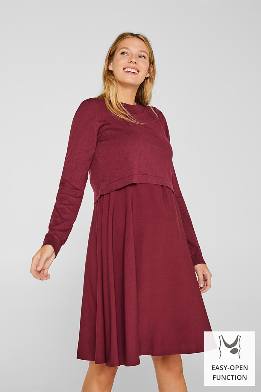 Mixed material nursing dress
