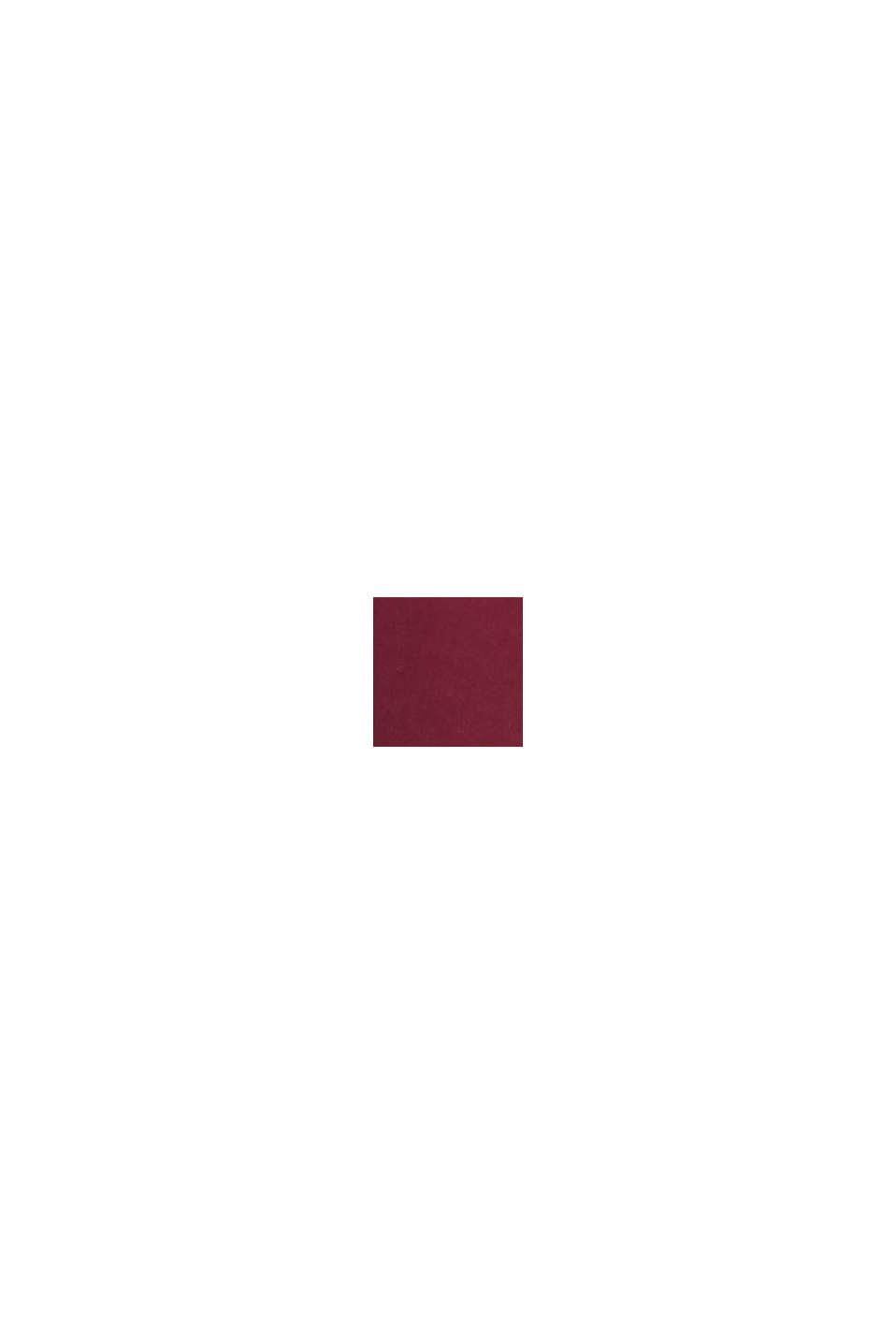 Material-Mix-Kleid mit Stillfunktion, GARNET RED, swatch