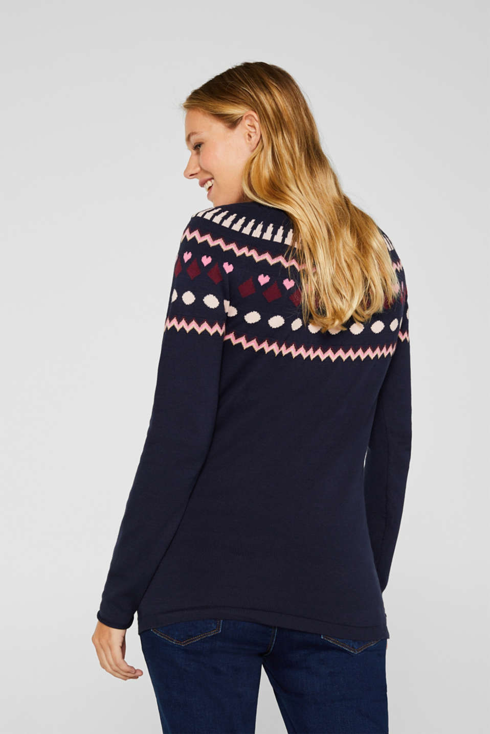 Sweaters, LCNIGHT BLUE, detail image number 3