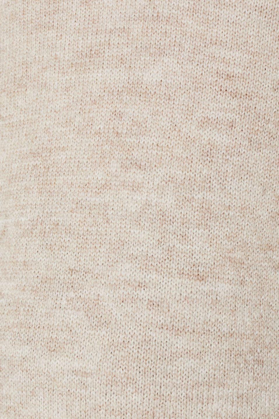 Melange jumper with button plackets, LCCAMEL, detail image number 4