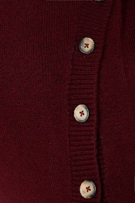 Melange jumper with button plackets, LCGARNET RED, detail