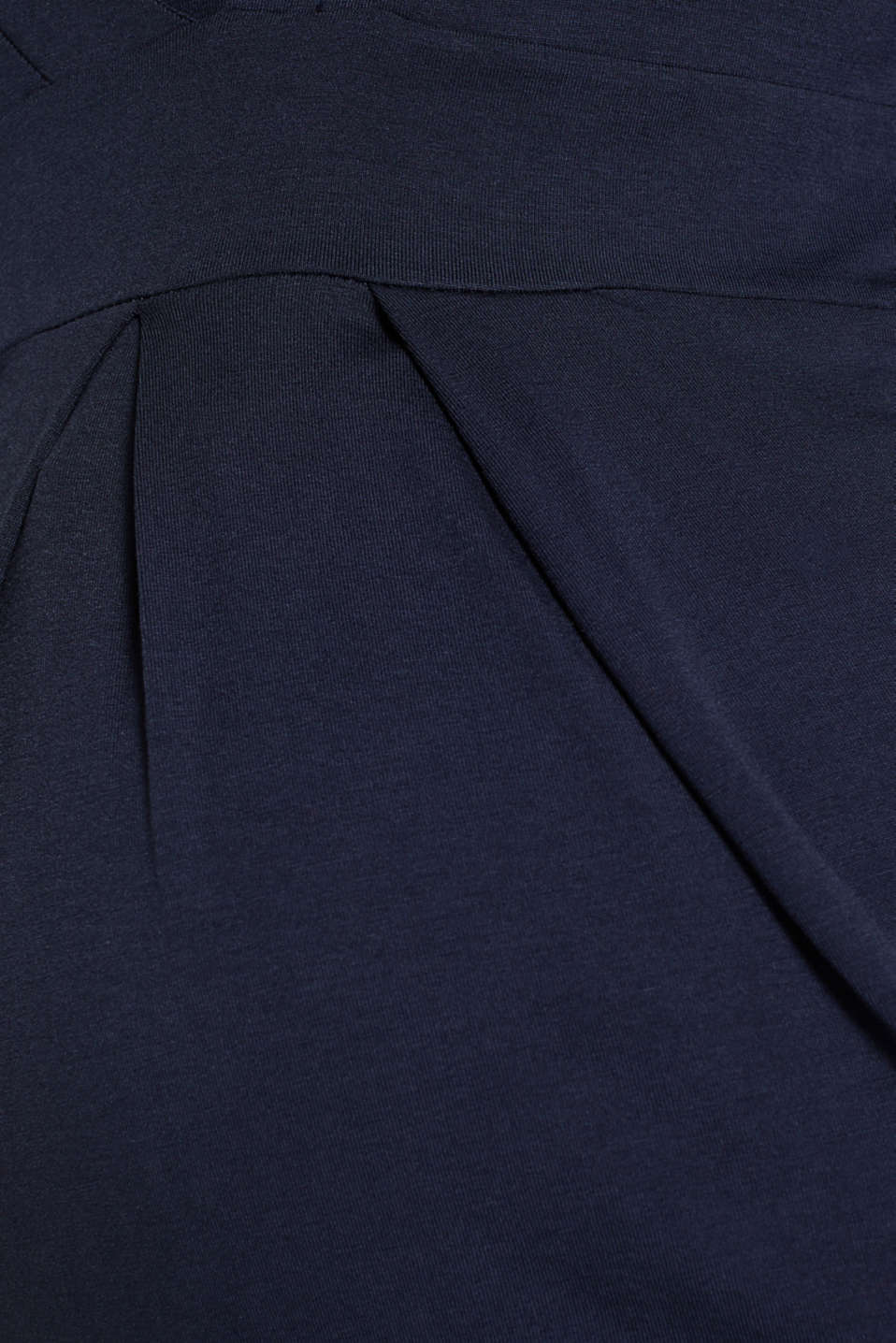 Stretch long sleeve nursing top, LCNIGHT BLUE, detail image number 4