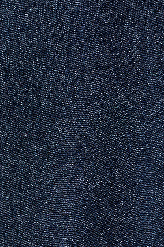 Stretch jeans with an over-bump waistband, BLUE DARK WASHED, detail image number 4