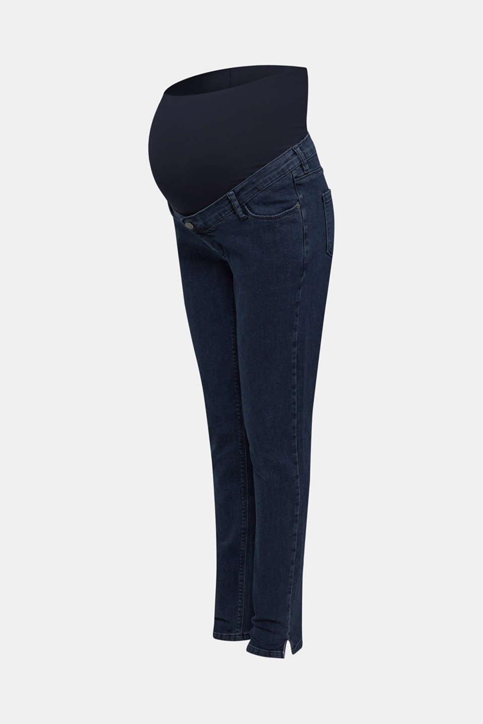 Stretch jeans with an over-bump waistband, LCDARKWASH, detail image number 7