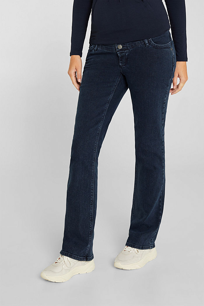 Stretch jeans with an over-bump waistband, BLUE DARK WASHED, detail image number 5