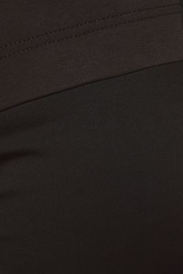 Stretch trousers with an under-bump waistband, BLACK, detail