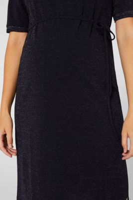 Glittering stretch jersey dress, NIGHT BLUE, detail