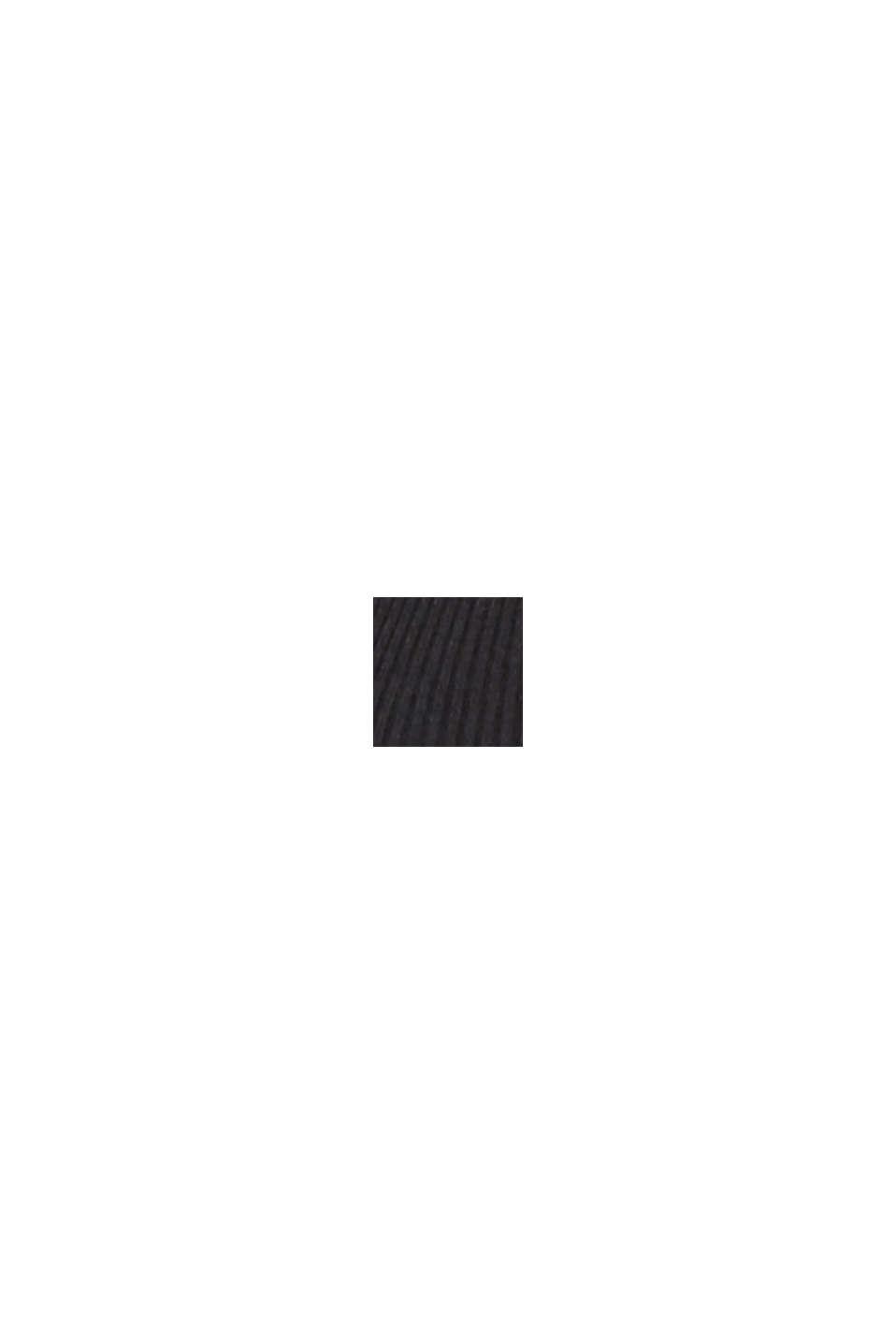 Abito a maglia plissettato con glitter, BLACK, swatch