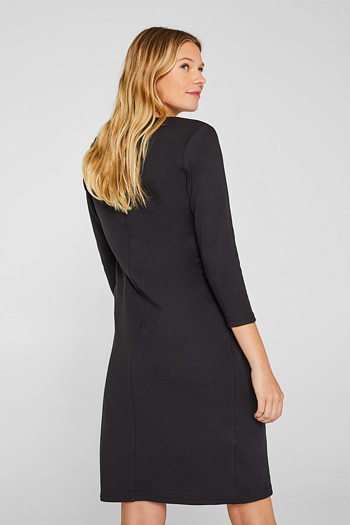 Drapiertes Jersey-Stretch-Kleid, BLACK, detail image number 2