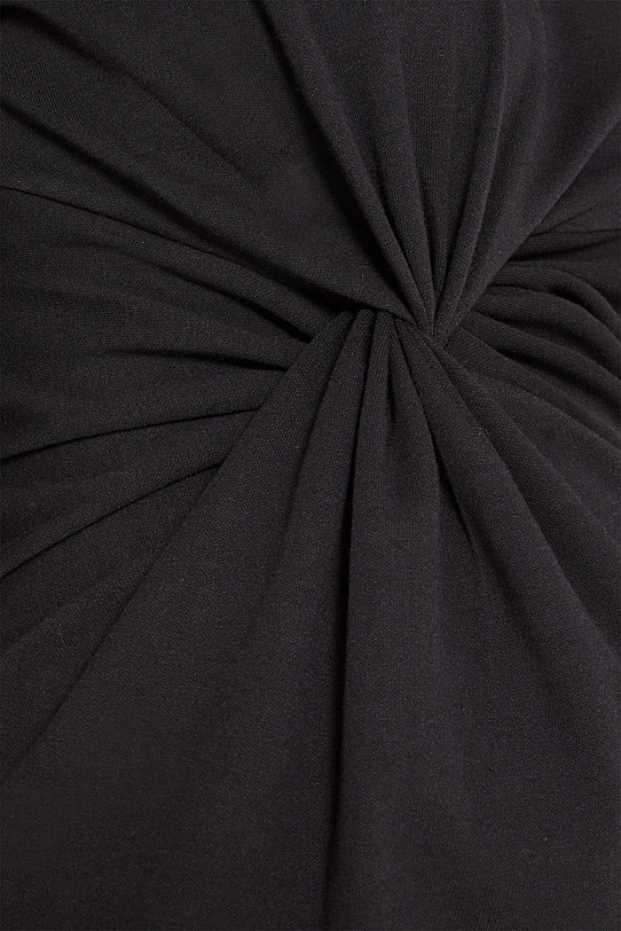 Drapiertes Jersey-Stretch-Kleid, BLACK, detail image number 4
