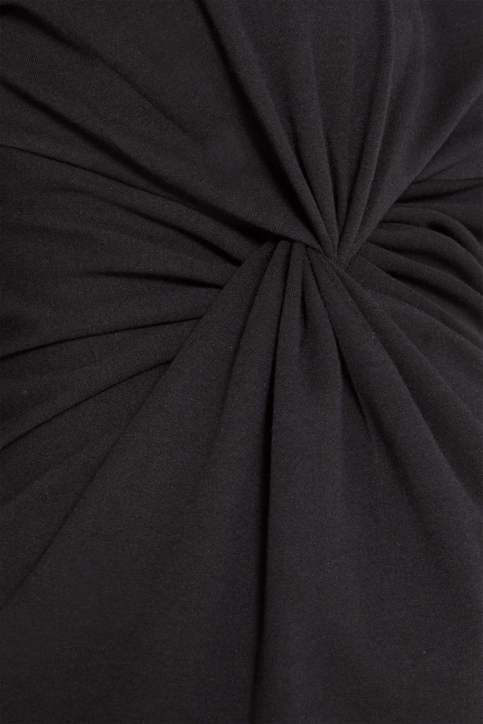 Draped stretch jersey dress, LCBLACK, detail image number 4
