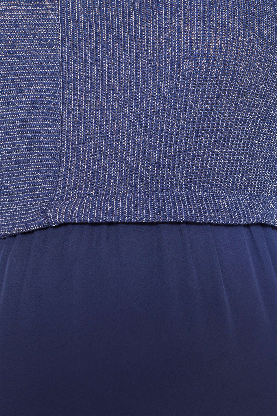 Layered long sleeve top with a glitter effect, LCNAVY, detail image number 4