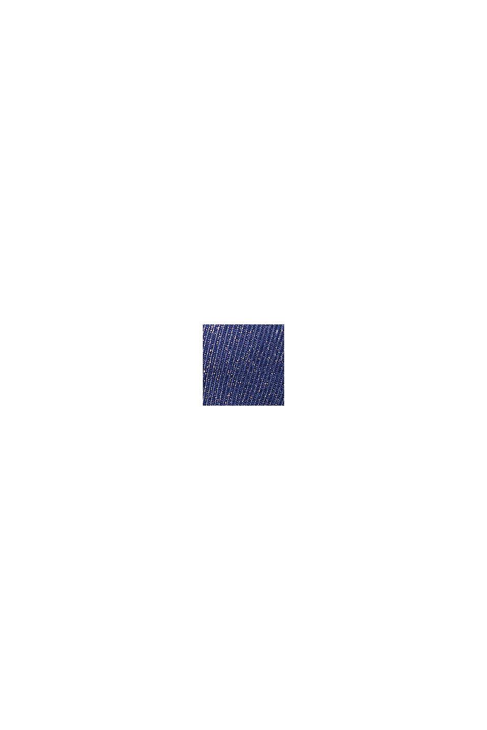 Langærmet top med glittereffekt, NAVY, swatch