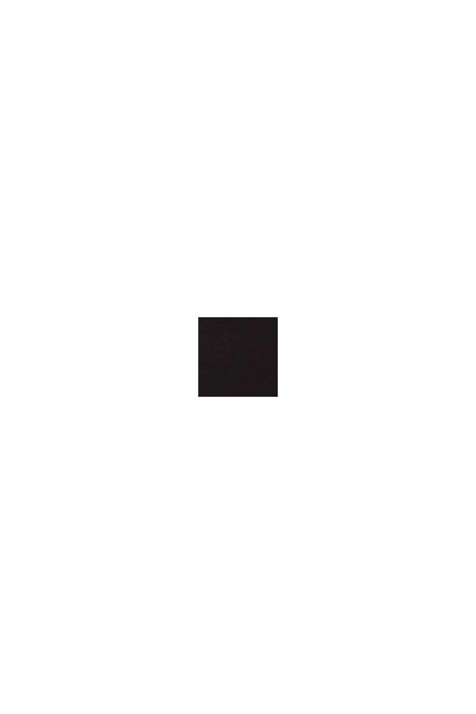 Longsleeve met stretch en glitterprint, BLACK, swatch