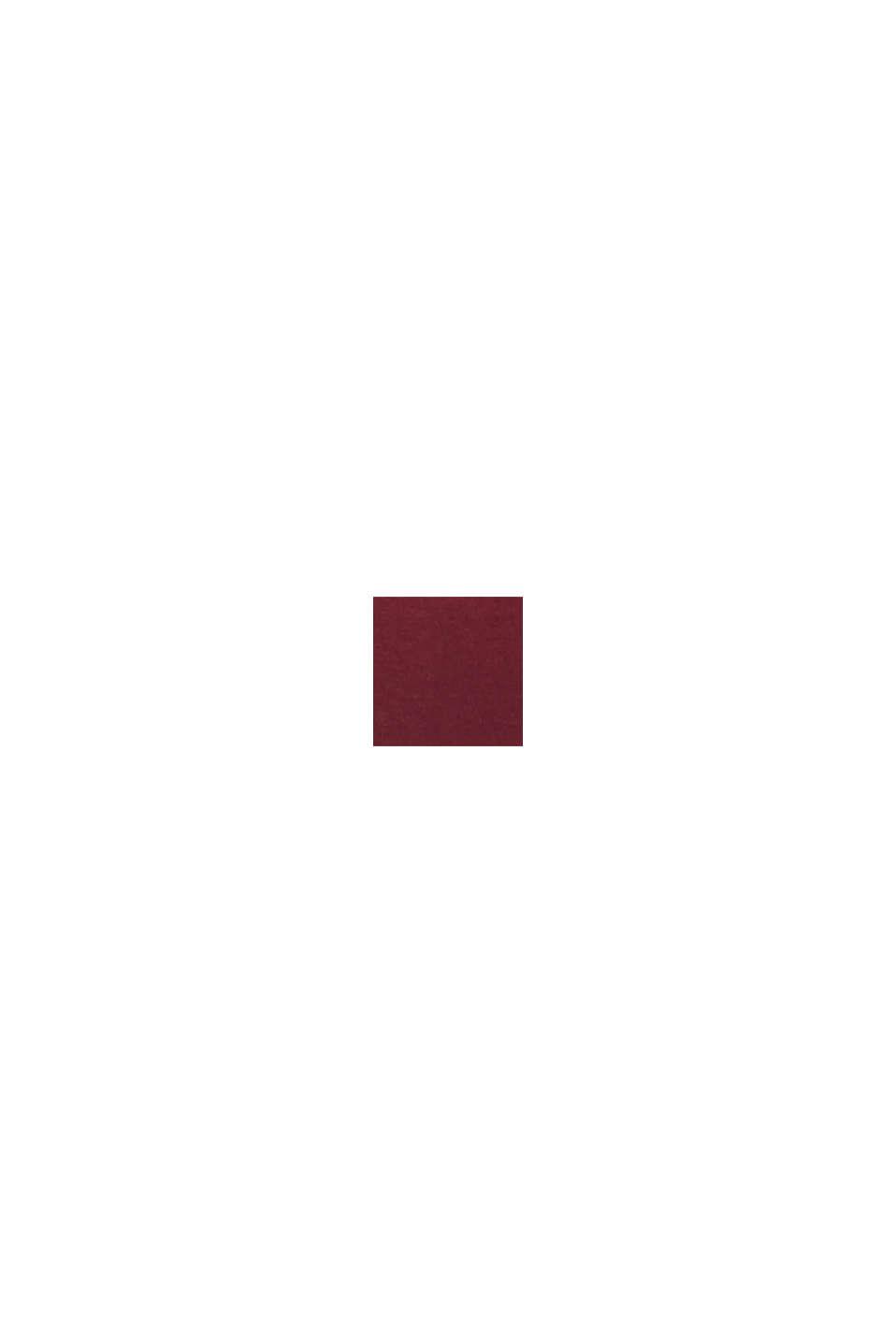 Longsleeve met stretch en glitterprint, GARNET RED, swatch