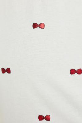 T-shirt with a shiny print, 100% cotton, LCOFF WHITE, detail