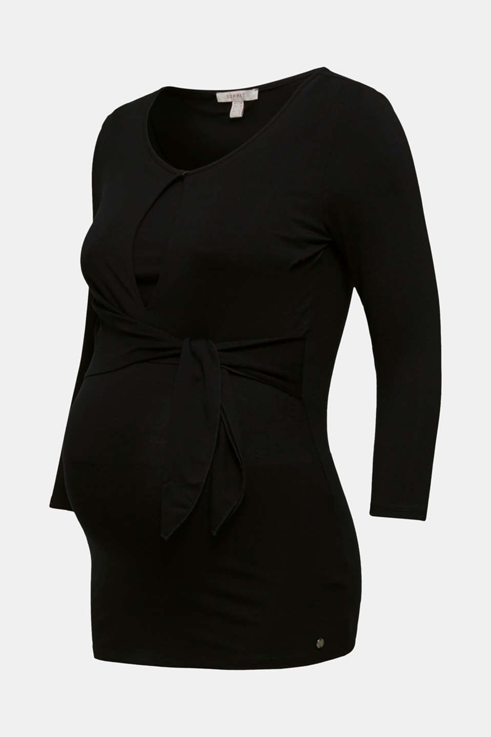 Nursing top with knot detail, LCBLACK, detail image number 6